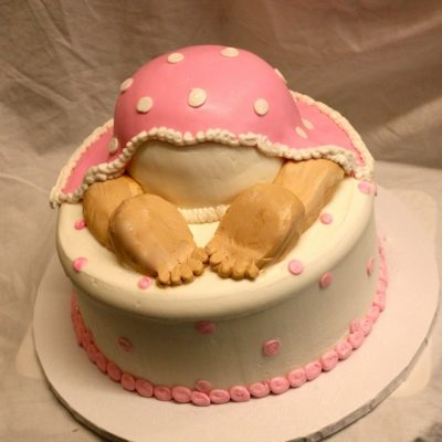 Baby Shower Cake, Baby bum, mommy to be, Pastel, pink blue, Cinottis Bakery, buttercream icing, fondant