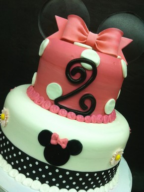 Minnie's Pink Bow, fondant ears, bow, flowers, Disney Mickey mouse, ribbons, birthday cake, baby shower, theme