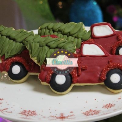 truck cookies, Christmas Cookies, Baking, Season, Jesus, Cinotti's,Tree, Santa, Sleigh Party, Red Green Ugly Sweater, North Pole, Snowman, Penguin,Gingerbread, Snow,Trim