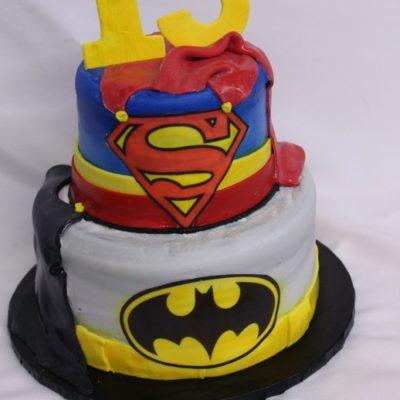 Batman, superman, capes, fondant, superhero, avenger, cake, birthday
