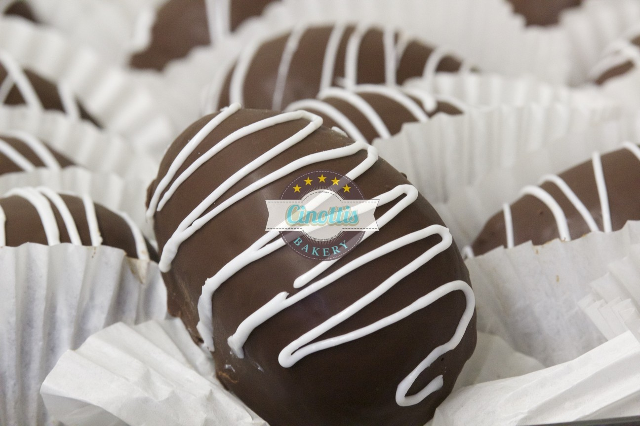 Chocolate Dipped Filled Eggs, Easter, Table, Treat, Cinotti's Bakery, Jacksonville Beach