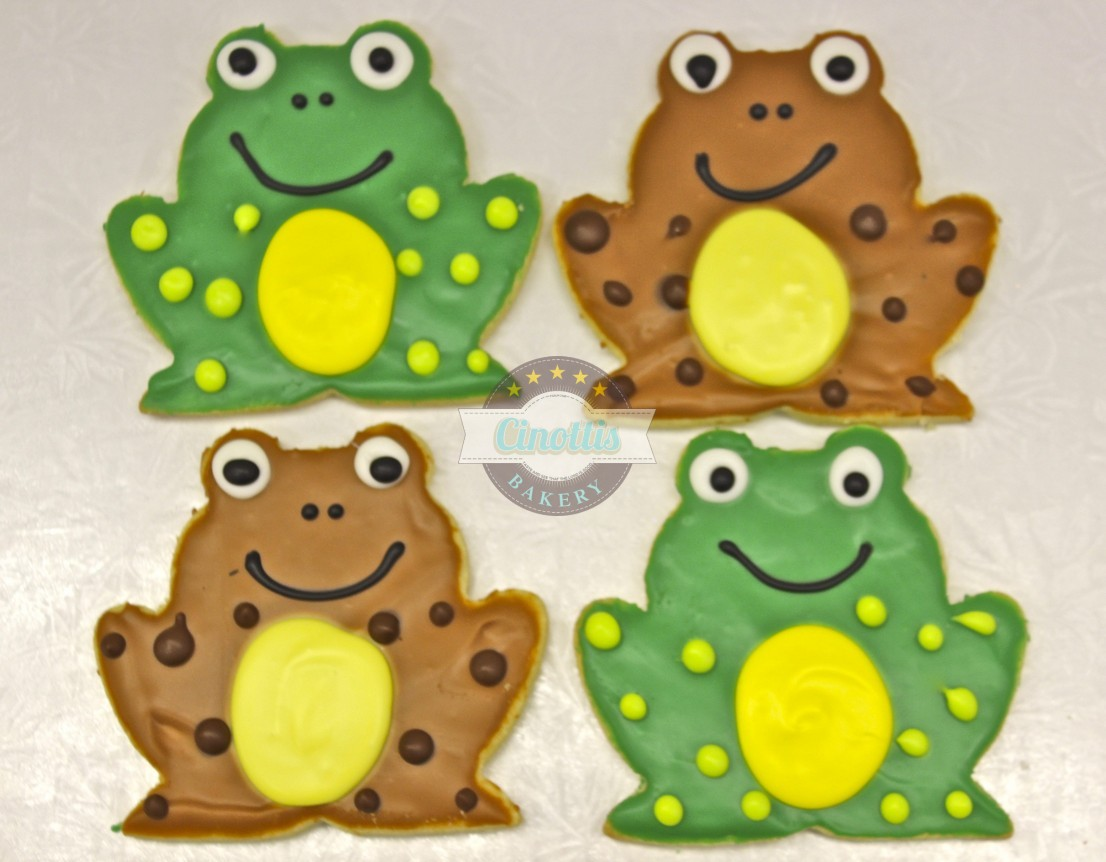 Frog, Cookies, Lilly pads, Princess and Frog, Tiana, Cinottis Bakery, Jacksonville Beach, Fondant Icing, Pary, Birthday, Summer, Mud, Bog, Pancake Forest Toad, Crunchy the Frog, MCF
