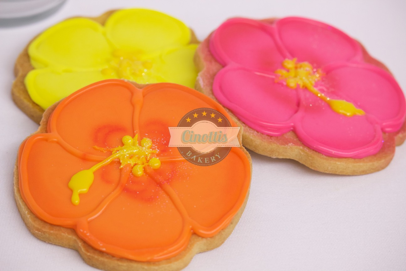Hibiscus Iced Cutout Cookies From Cinottis Bakery