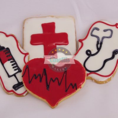 Nurses Set Cookie assortment, Doctor, Med School, Graduation, Stethescope, Syringe, Heart rate, EKG, Red Cross, Hospital, Assistant, Cinottis Bakery, Jacksonville Beach