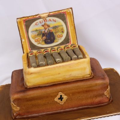 Cigar box, humidor, cuban cigars, grooms cake, birthday cake, cigar,