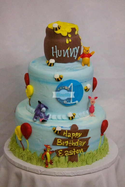 Winnie The Pooh Celebration Cake From Cinottis Bakery