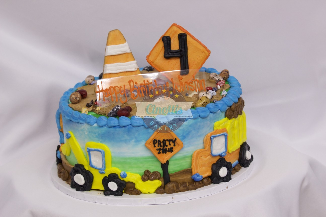 Construction Birthday Celebration Cake From Cinottis Bakery