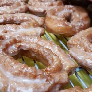 Strawberry Donuts, Cinottis Bakery, Spring, Glaze, breakfast, donut, danish, dunkin, krispy