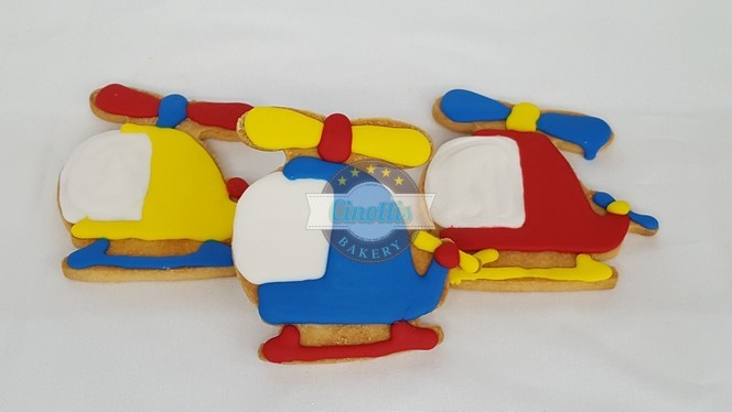 Helicopter, Cookie, Birthday, Airplane, Train, Party, Boy, Rescue, Fondant, Icing, Cinottis