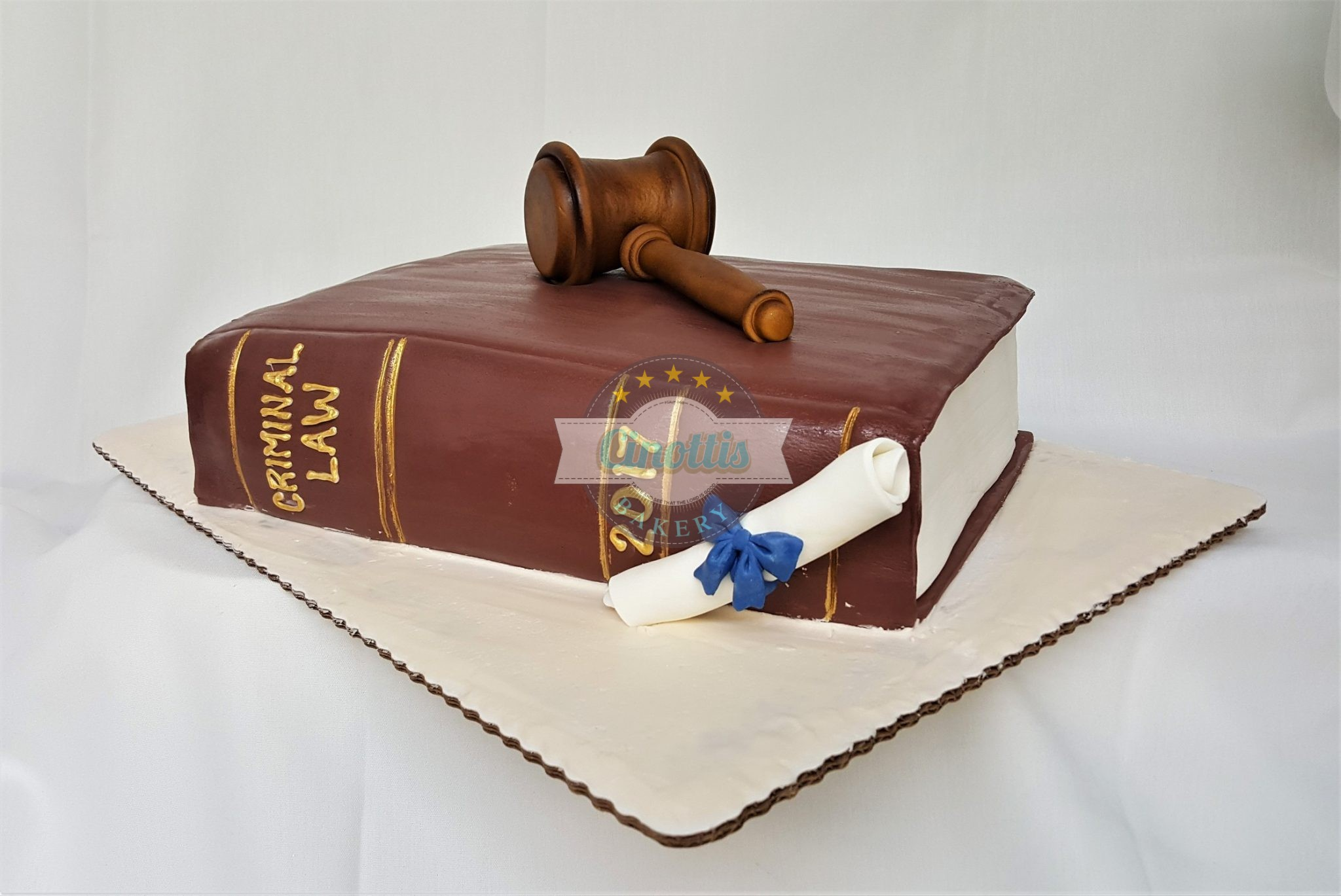 Graduation Books With Diploma- A Celebration Cake From
