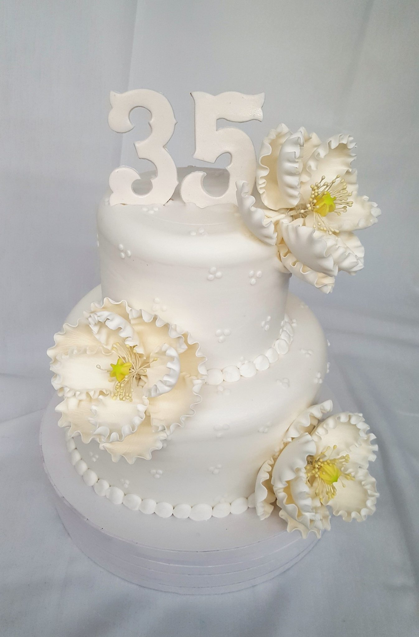 Swiss Dots, Cake, Flowers, Simple, Dots, Swiss, Peony, Elegant, Anniversary, Bridal, Shower, Birthday, Party, Jacksonville