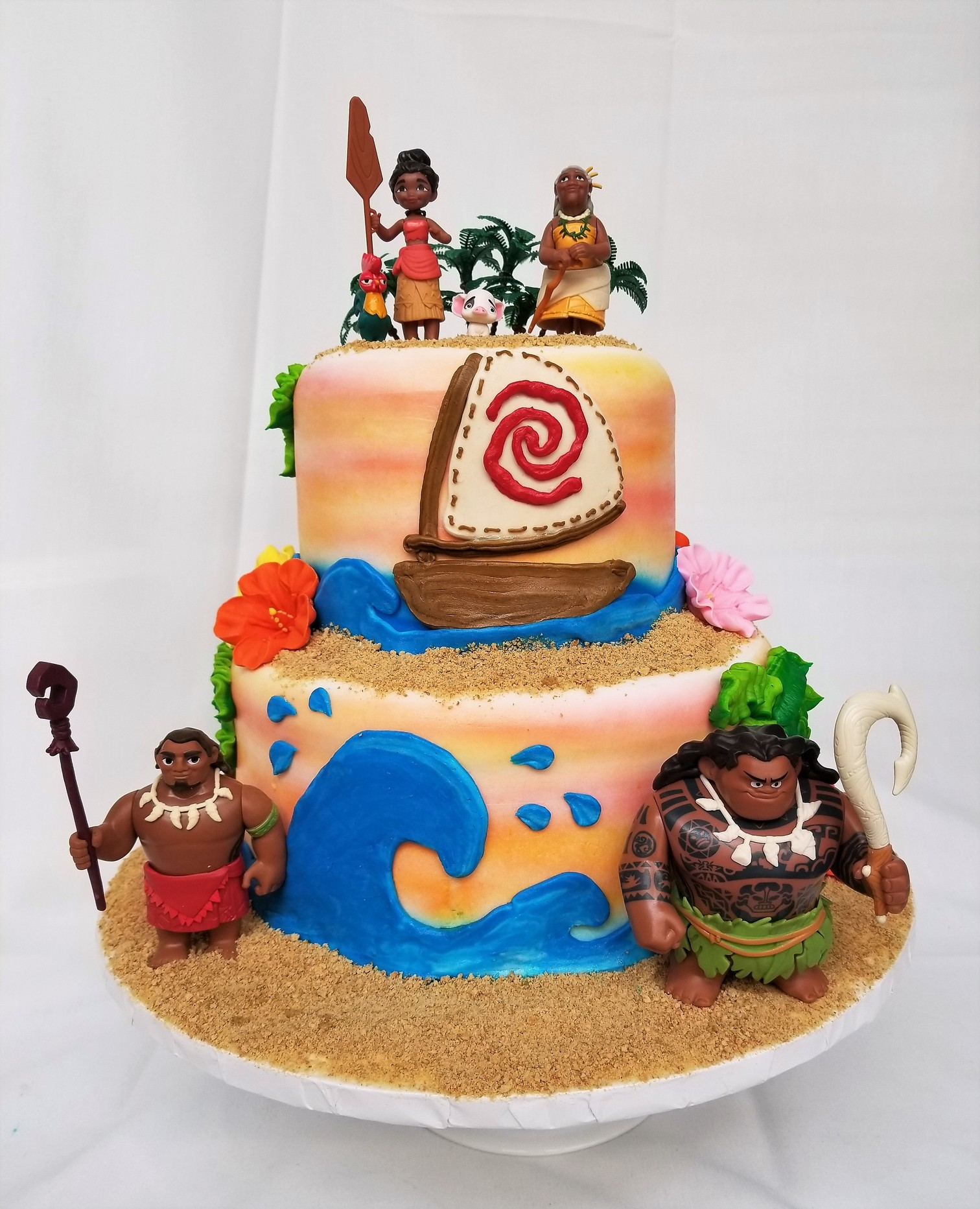 Moana Inspired Cake It Calls Me From Cinottis Bakery