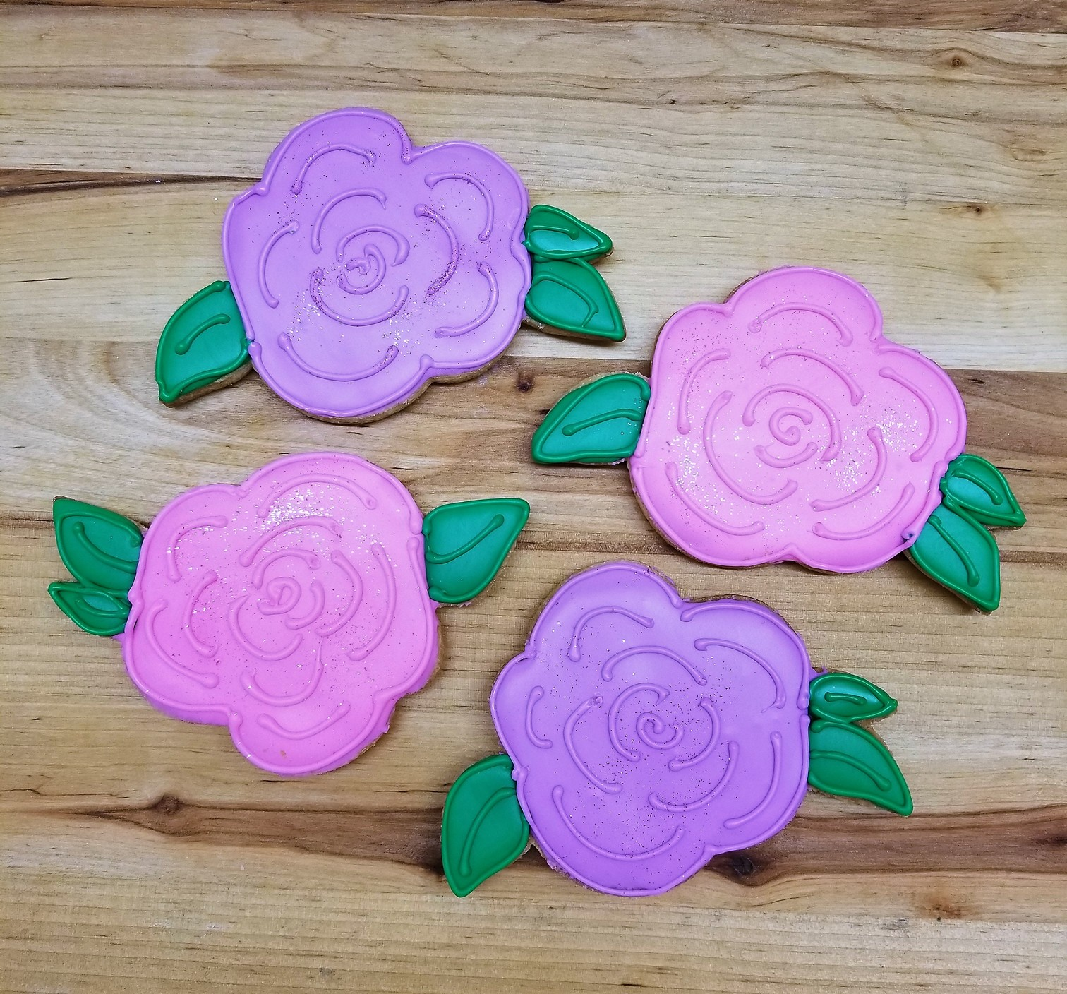Baby Rose, cookies, flower, spring, party, birthday, pretty, girlly, jacksonville, beach, bakery