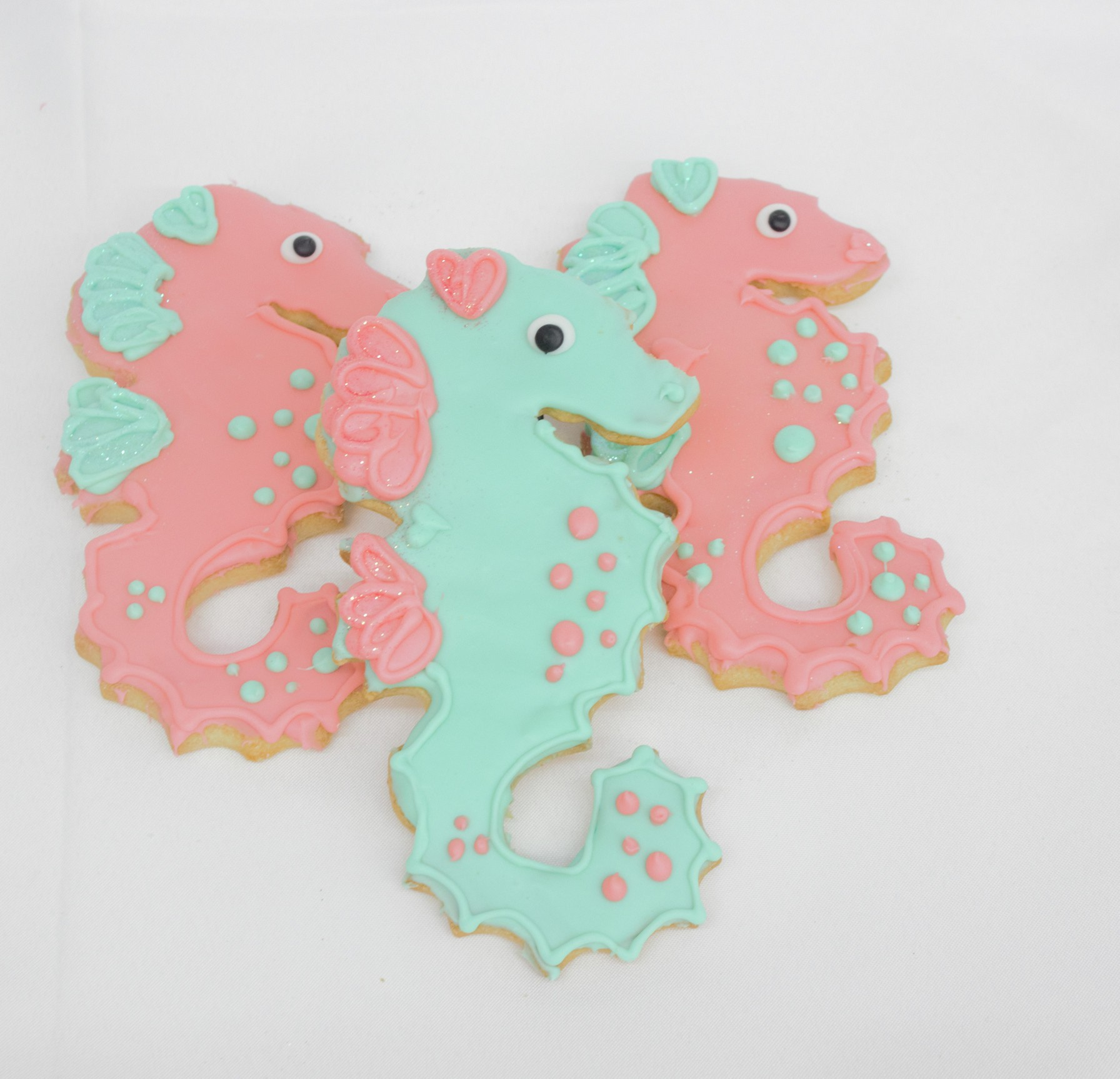 Seahorse Iced Cookies- Under the Sea goodies from Cinotti\'s Bakery