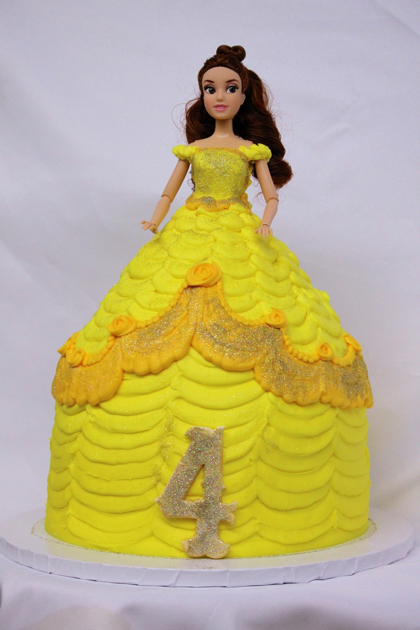 Doll Cake, Belle, Beauty, beast, cake, kids, birthday, party, cinottis, bakery, fun, barbie, dress
