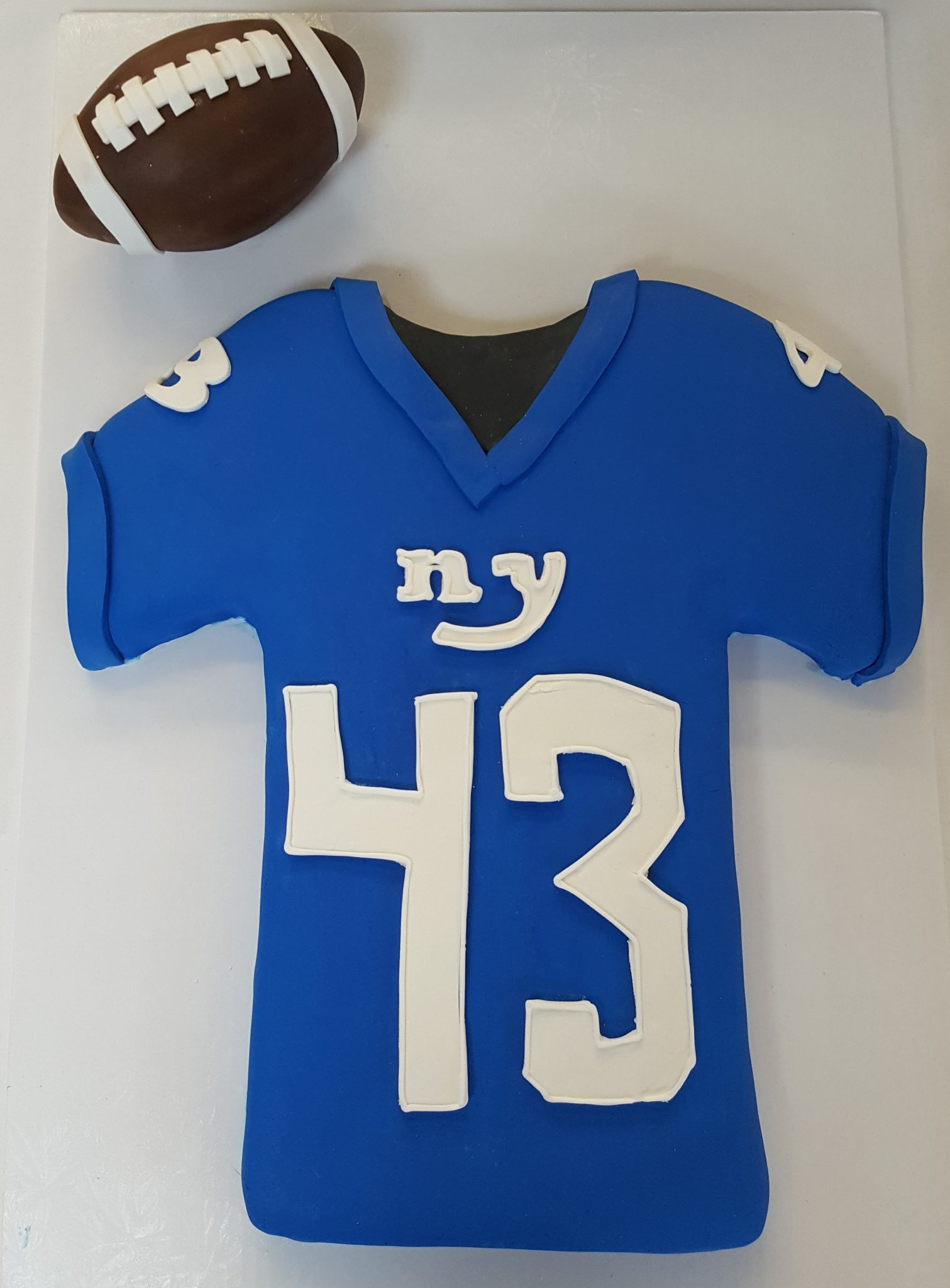 Football jersey, sports, NFL, SEC, ACC, bakery, jacksonville, beach, New, York, Giants, birthday