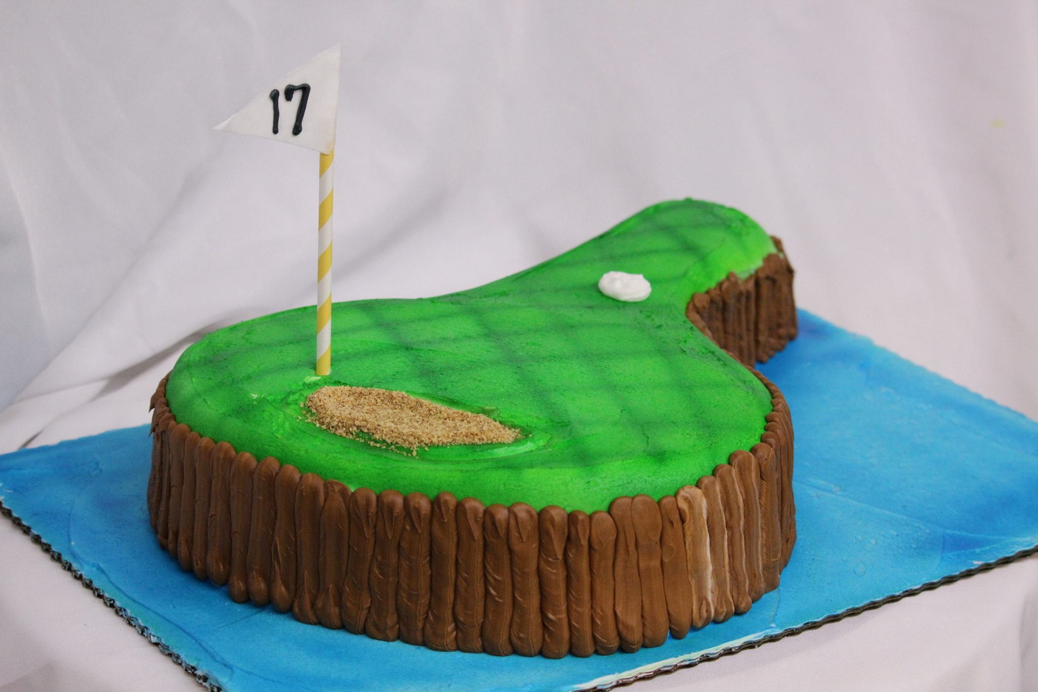 Seventeenth Green, theme, cake, TPC, Sawgrass, 17th, green, birthday, cake, adult, man, male, party, Jacksonville, Ponte, Vedra, Beach