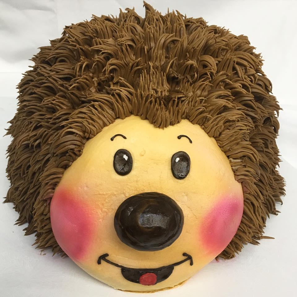 Hedgehog cake, birthday, cute, woodland, party, cinottis, bakery, jacksonville, beach