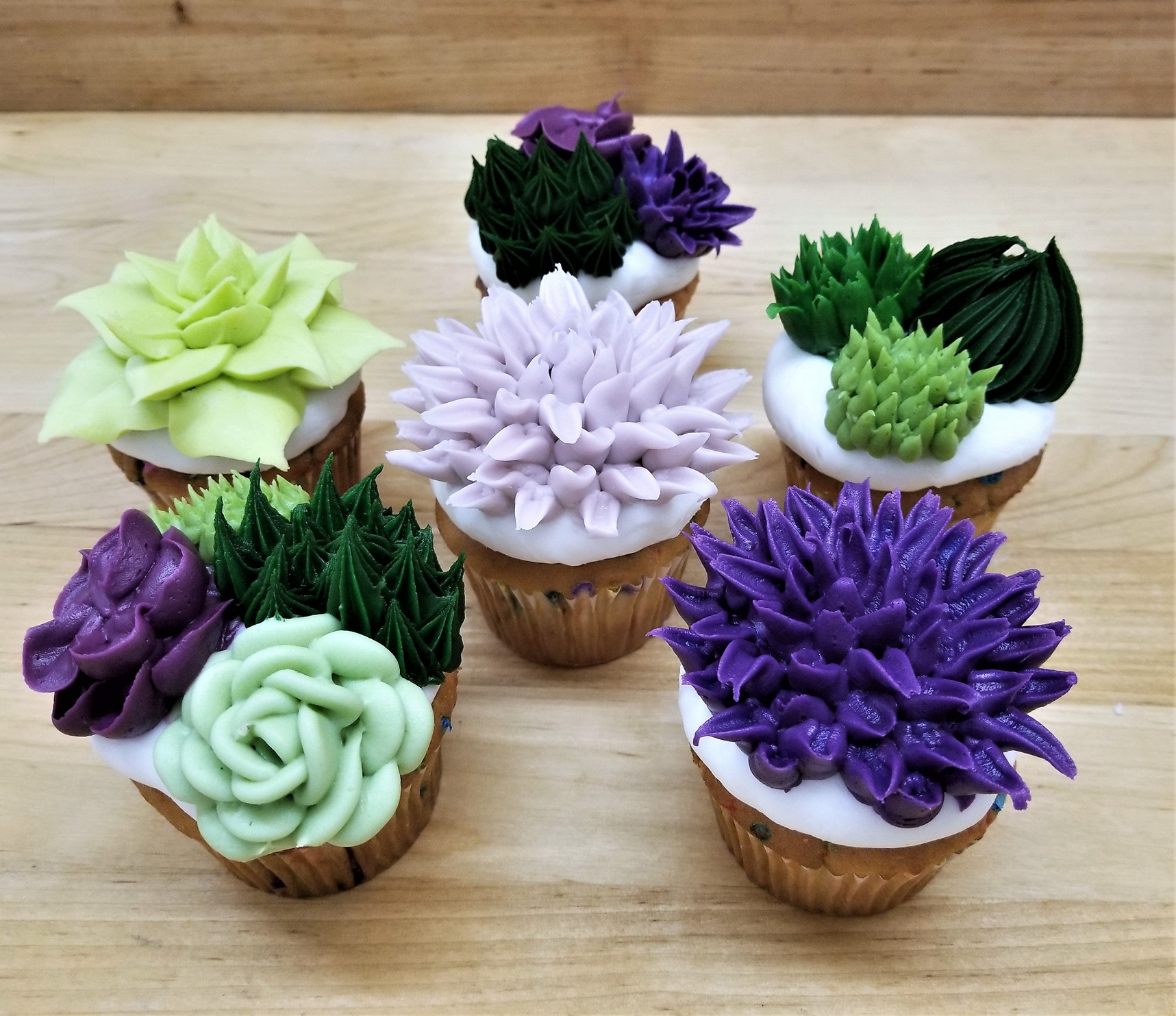 Succulent cupcakes, wedding, shower, birthday, garden, party, nature, rustic, bakery, jacksonville, beach