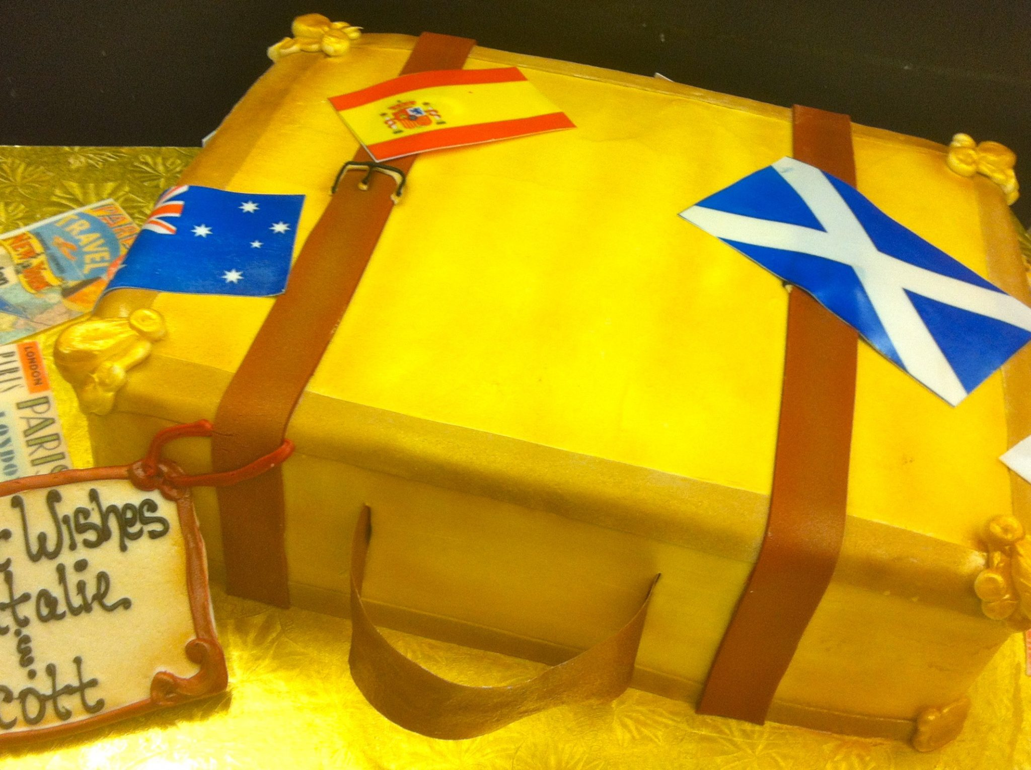 Suitcase/Travel Bag, Cake, travel, theme, birthday, grooms, world, jacksonville, beach, bakery