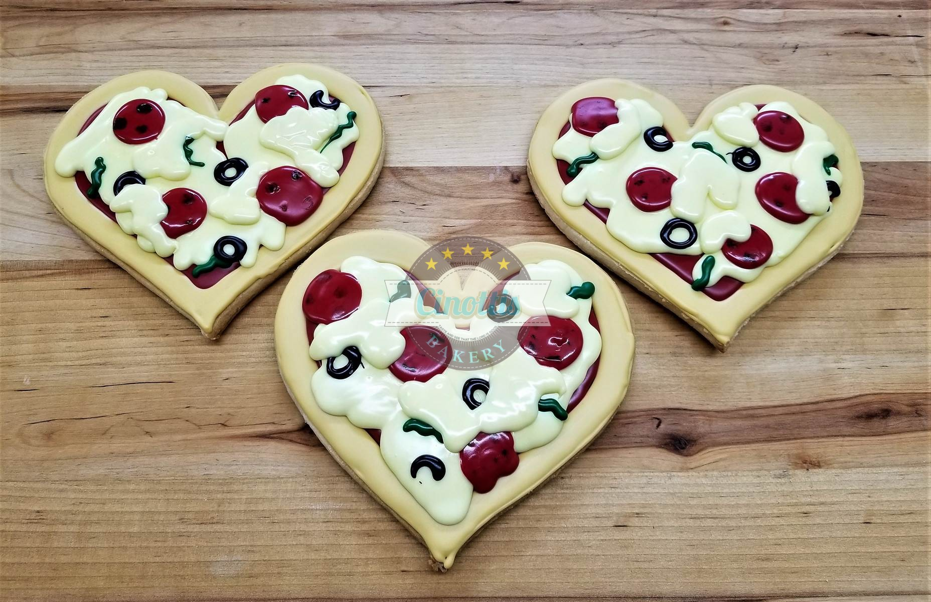 Pizza My Heart Iced Cutout, Cookies, Valentine's