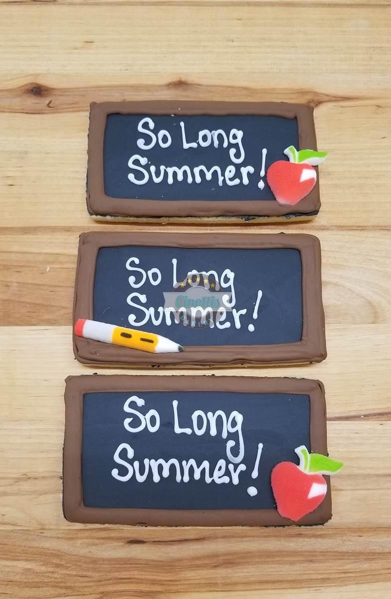 Chalkboard Iced Cutout, Cookies, Cinottis Bakery, Chalkboard