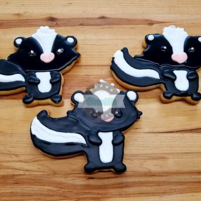 Skunk Iced Cutout, Animals, Woodland Creatures, Ci