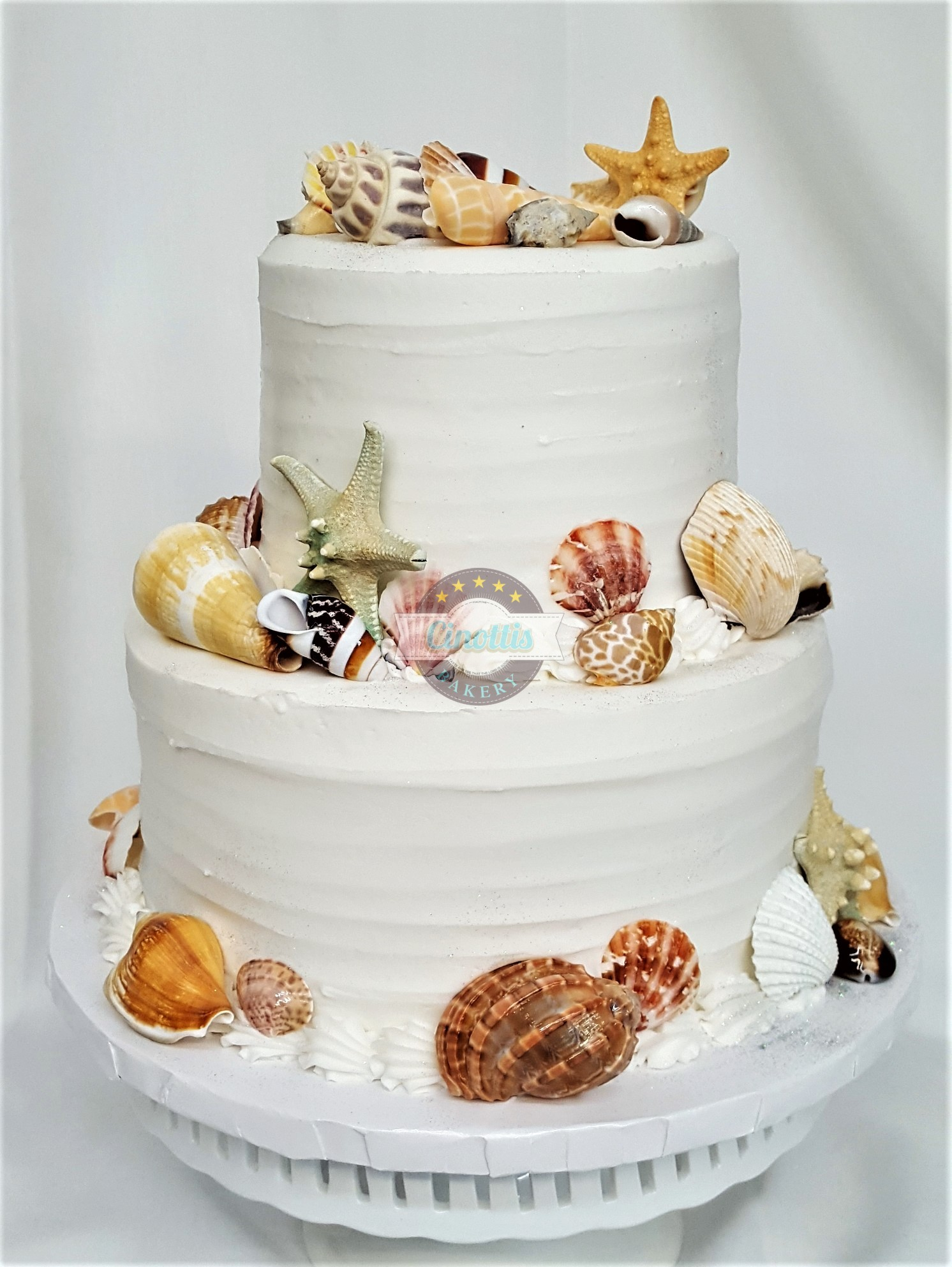 Shells, Wedding, Cake, Shells, Beachy, Sand, Shore, Destination, Buttercream, Rustic, Simple, Birthday, Adult, Bridal, Jacksonville, Shower, Party