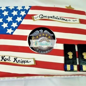 American Armed Forces, Cake, Retirement, Navy, Marines, Police, Cinotti's Bakery
