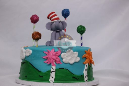Horton hears a who, Dr. Suess, Lorax, Cat in the Hat, One Fish, Birthday Cake, Baby Shower, First Birthday Cinottis Bakery