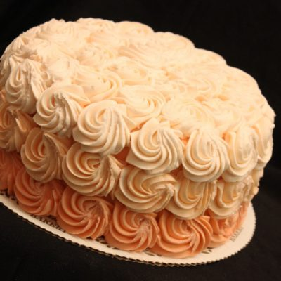 Peach Ombre, Swirls, Ombre, Peach, Pink, Birthday, Baby, Shower, Glitter, Buttercream Fondant, Cinottis Bakery