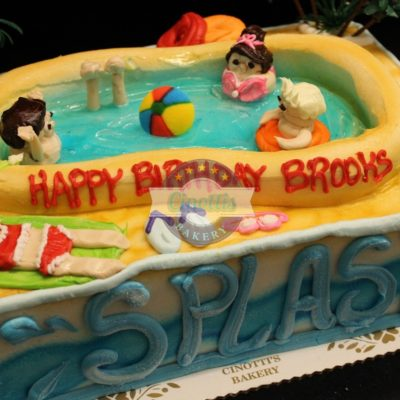 Pool party summer fun, backyard barbque, birthday, party, fun, water, splash, buttercream handmade, Cinottis Bakery