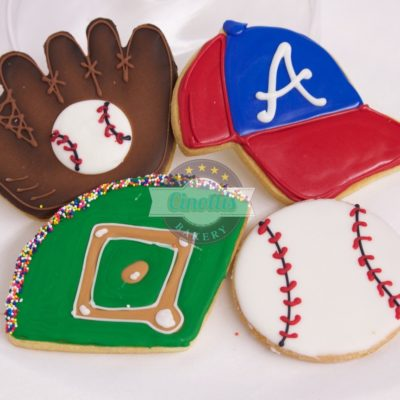 baseball set, assortment Cookies, Cinottis Bakery, Cinottis, Baseball Cookies