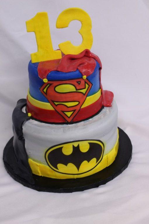 Batman superman, capes, fondant, superhero, avenger, cake, birthday