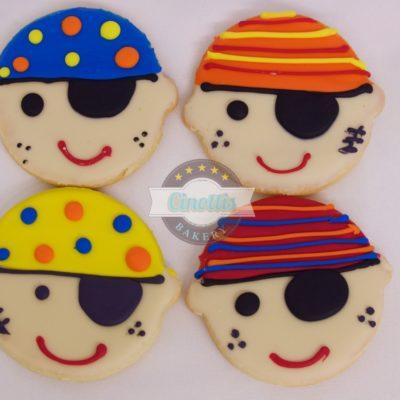 Pirate Face, Cookies, Cinottis Bakery, Fondant Icing, Pirate
