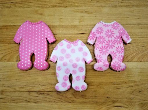 Baby Sleeper, Pram, carriage, onesie, jammies,Cookies, shower, bakery, jacksonville, fun, favors, themed