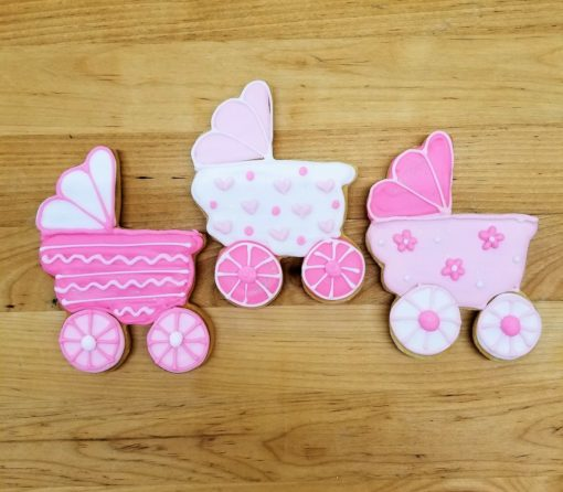 Baby, Pram, carriage,Cookies, shower, bakery, jacksonville, fun, favors, themed