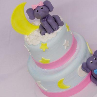 Elephants in the sky, Cinottis Bakery, Fondant Elephant stars, Moon, Fondant