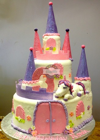 Perfect Princess Castle Unicorn Pink Purple Birthday Baby Fondant Cones Turrets