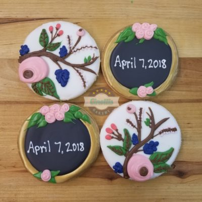 Rustic Floral, Baby, Wedding, Chic, Trendy, Chalkbaord, Forest, woodsy, Shower, Cookies, Favors, Cinottis