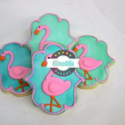 Flamingos, Beachy, Florida, Pink, Coral, Flaminco, teal, Aqua, Beach, Keys, Cookie, Fondant, Orange, Shrimp, CInottis