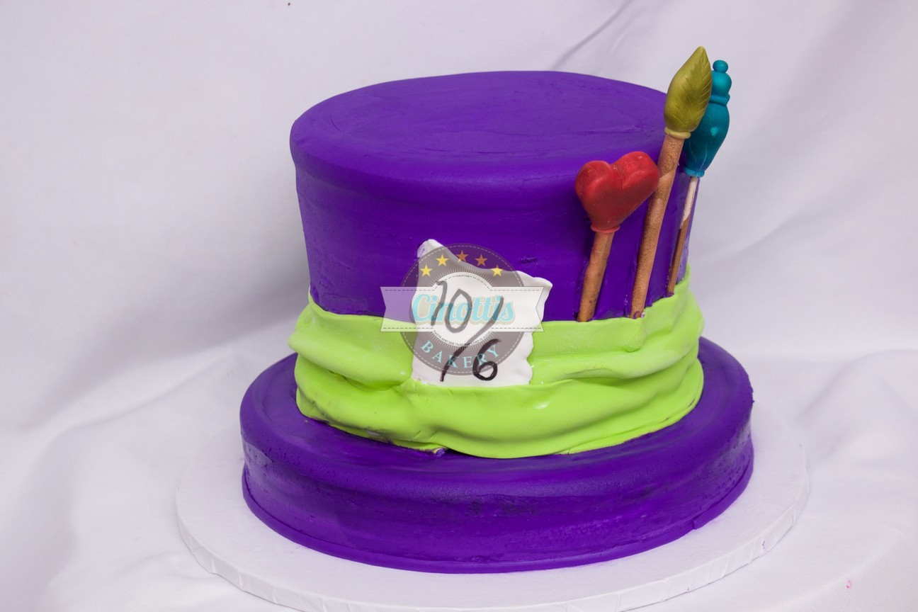 Mad Hatter Inspired Cake Celebrate With Cinottis Bakery