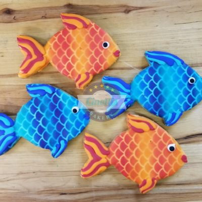 fish, cookies, underwater, birthday, cute, colorful, rainbow, party, favor, mermaid, Jacksonville