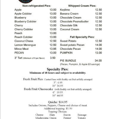 Pie ,List Cinottis Bakery Jacksonville Beach Holiday Meal Dessert Cookie Cake