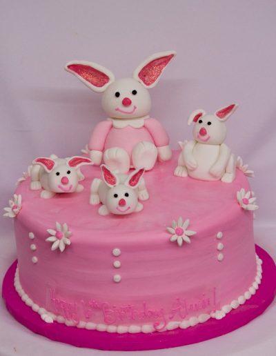 Fondant Bunny Family