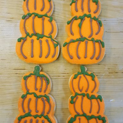 Three Little Pumpkins, stacks, leaves,fall, autumn, leaves, patch, cookies, favors, table, gifts, bags, cinottis, bakery, jacksonville, beach