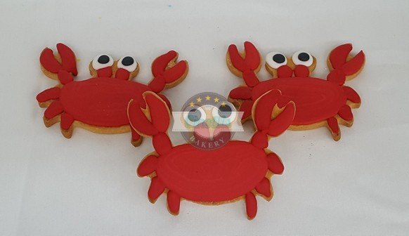 Crab, Cookie, Beach, Crabby, Patty, Ocean, Moana, Luau, Cinotti, Bakery, Birthday