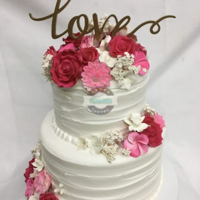 Semi-Textured Buttercream, Cake, Buttercream, Flower, Wedding, Gumpaste, Birthday, Shower, Party, Fondant, Jacksonville, Beach, Florida