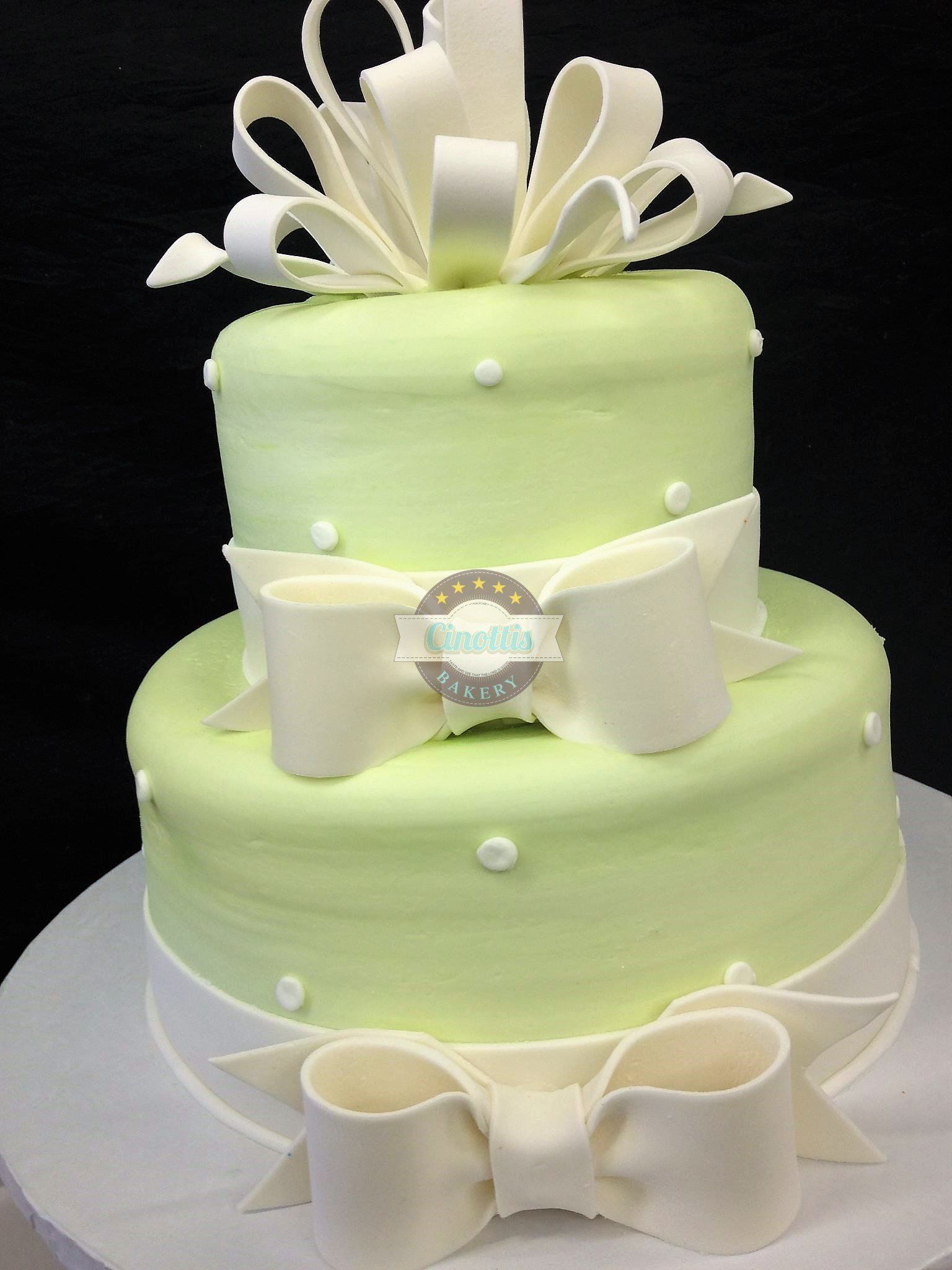 wedding cake ribbon bows ribbons and bows cake from cinotti s bakery in 23679