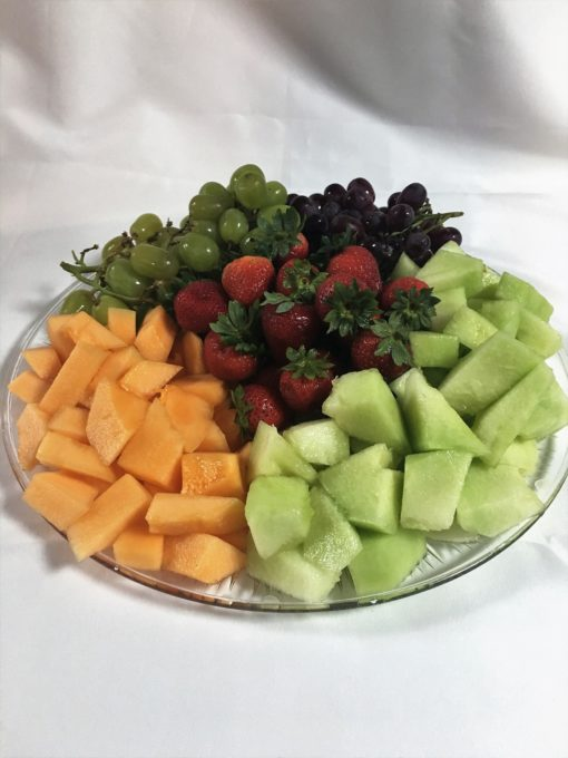 Fresh Fruit, Tray, Catering, Party, Shower, Game, Day, Grapes, Cantelope, Honeydew, Strawberries, Pineapple, Cinottis, Bakery
